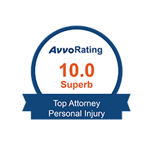 Avvo Rating 10.0 Top Personal Injury Attorney